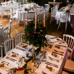 grand chandelier argenté location mariage finistère
