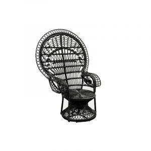 fauteuil emmanuelle noir location mariage