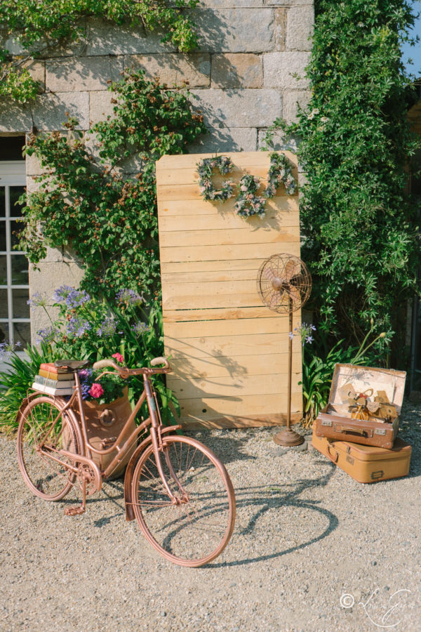 vélo cuivré location mariage Finistère