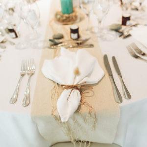 location chemin de table lin blanc cassé mariage finistère
