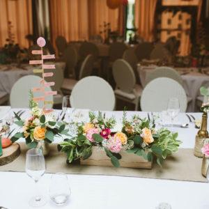 location chemin de table lin naturel mariage Finistère