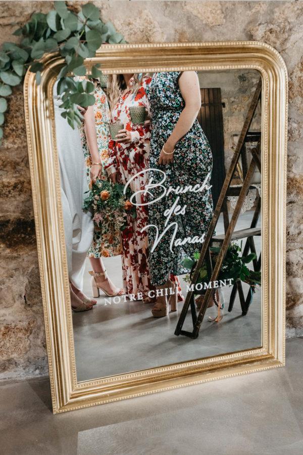 location miroir doré mariage Finistère