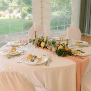 chemin table mousseline location mariage finistère